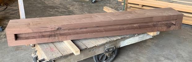 walnut solid mantle