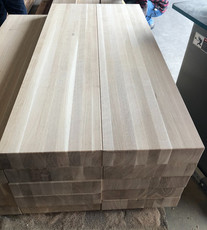 White Oak Butcher Block Stair Treads