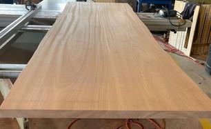 Plank Style Sapele Top w-Faux Live Edge