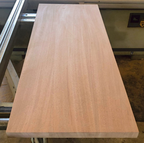 African Mahogany Plank Style Top