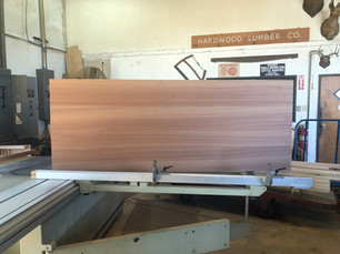 Ribbon striped Sapele plank style