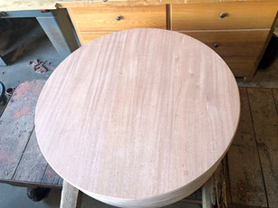 African Mahogany Round Top