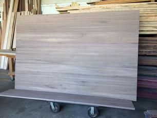 Butcher block walnut