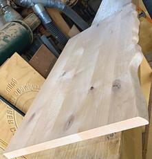 Plank Style Knotty Alder w- faux live edge