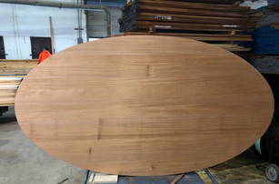 African Mahogany Plank Style Oval