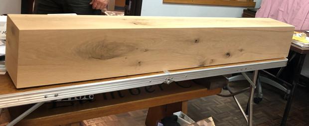 Rustic White Oak Box Mantle