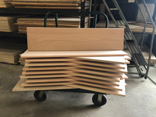 Red oak plank style stair treads w/ bullnose