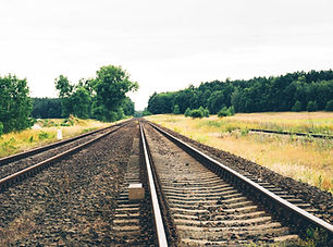 Eisenbahngleisen Natur