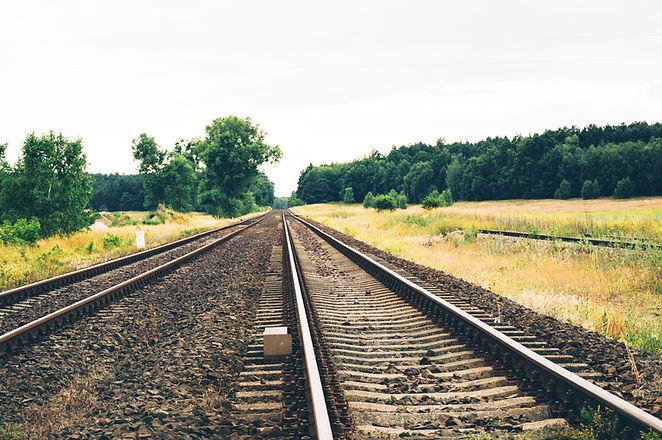 Sporen van de spoorweg Nature