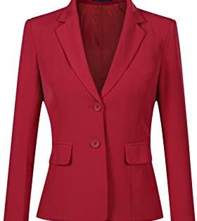 Blazer Rouge Femme