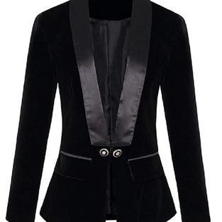 Tailleur élégant noir velours