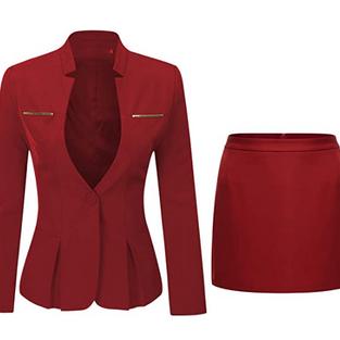 Costume Tailleur et Jupe Rouge