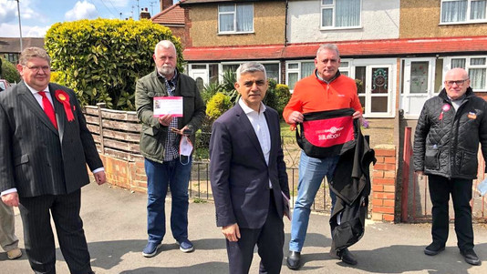 Khan in town as election day approaches
