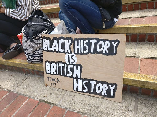 Black Lives Matter Protesters gather to oppose decision of Hillingdon Council