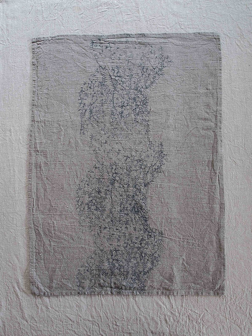 Linen Tea Towel | Tea Tree, Smoke on Flax #3