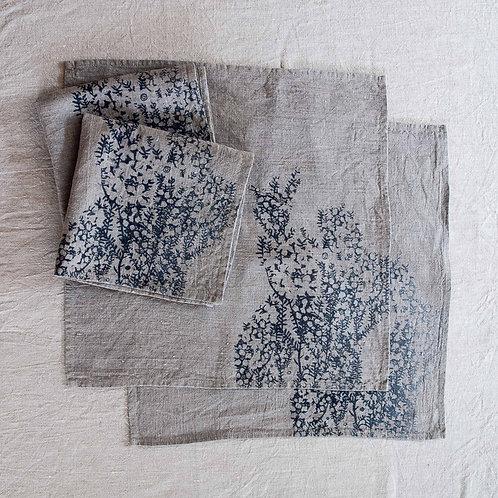 Set of 4 Napkins | Tea Tree, Smoke on Flax #2