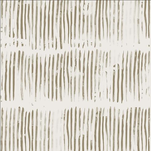 Stripe, Flax on White