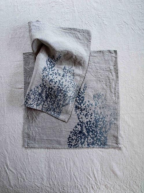 Set of 2 Napkins | Tea Tree, Smoke on Flax