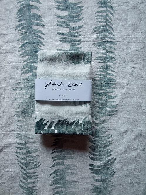Linen tea towel, Frond