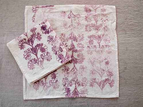 Set of 2 Napkins | Verdun, Rose on White
