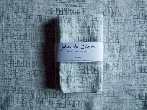 Linen tea towel, Rona