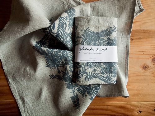 Linen tea towel, Bottle Brush