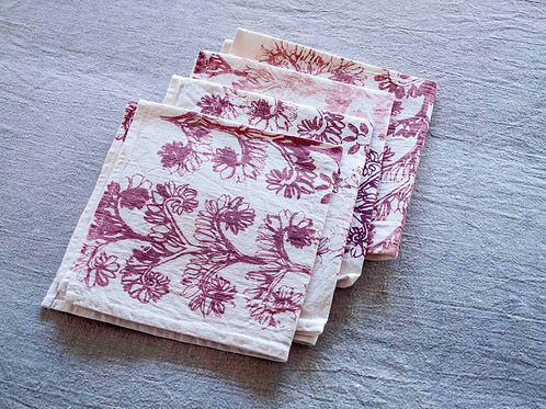 copy of Set of 4 Napkins | Verdun, Dust Rose on White