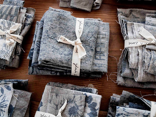 Remnant bundle: flax & blues
