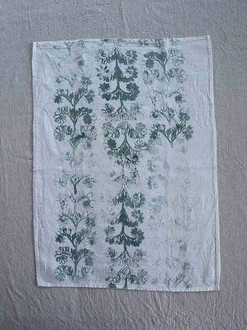 Linen Tea Towel | Verdun, Stone on White #2