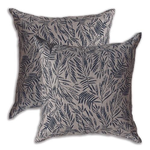 50 x 50 cm cushion cover, Acacia Charcoal on Oatmeal