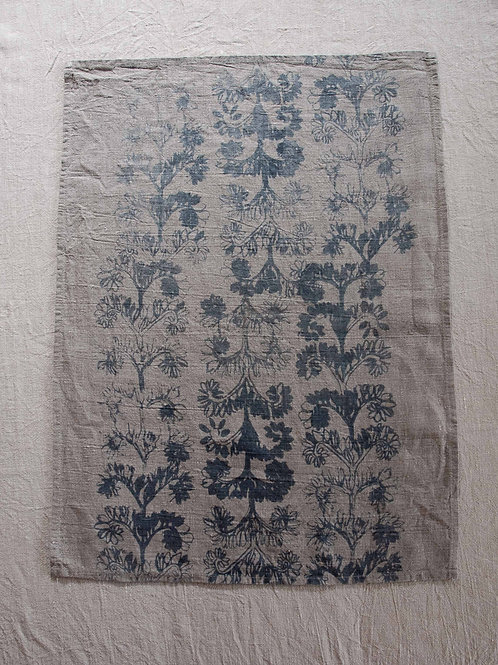 Linen Tea Towel | Verdun, Smoke on Flax #2
