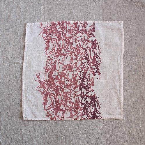 Set of 4 Napkins   Bracken, Dust Rose on White #1