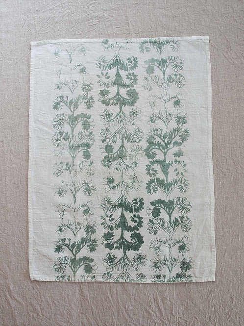 Linen Tea Towel | Verdun, Stone on White #1