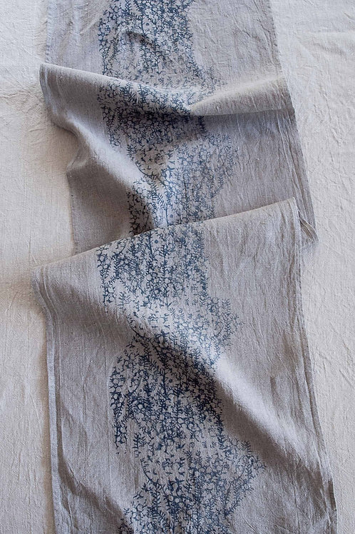 Table Runner | Tea Tree, Smoke on Flax #2