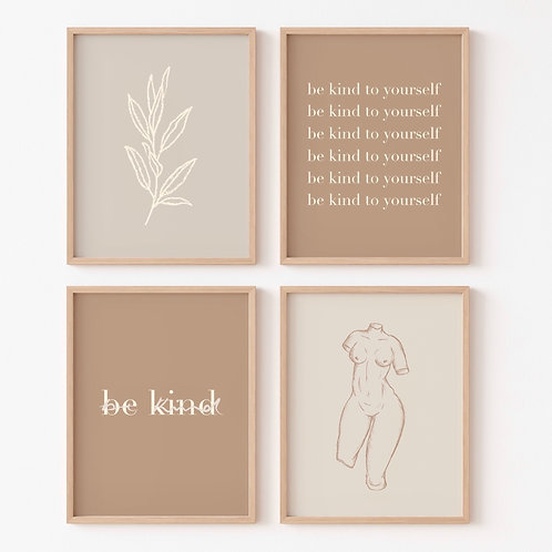 'be kind' collection minis