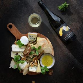 Tyrian Clouds Sauvignon Blanc & Cheese Platter by Gayatri Singh