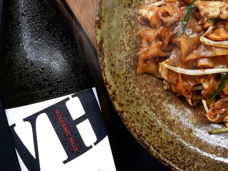 Volcanic Hills Pinot Gris and Char Kway Teow
