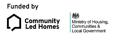 Funded by Community Led Homes Logo
