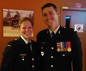 MWO Martin Leon Dupont and MCpl Shauna M