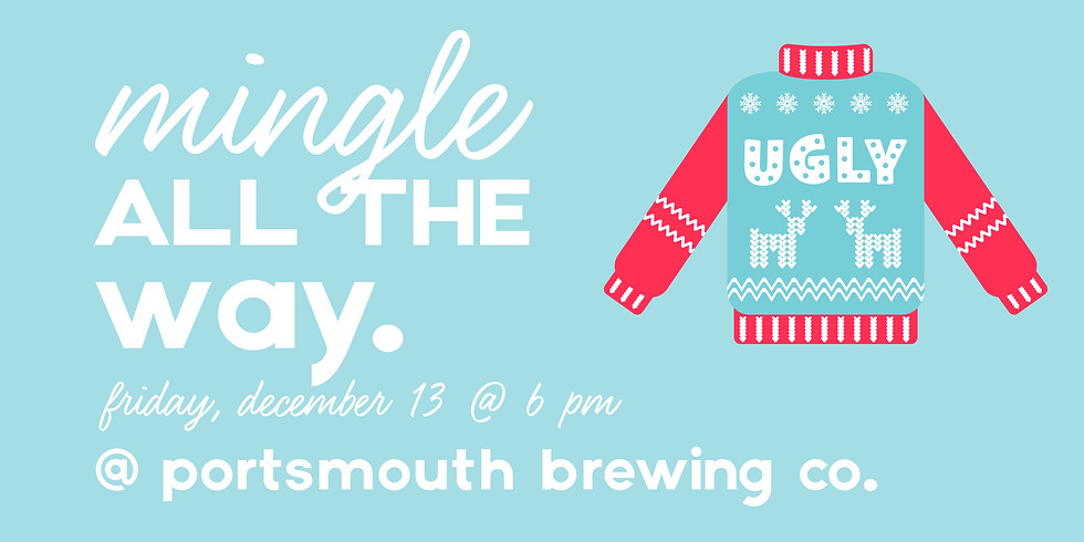 Mingle All The Way Ugly Christmas Sweater Party