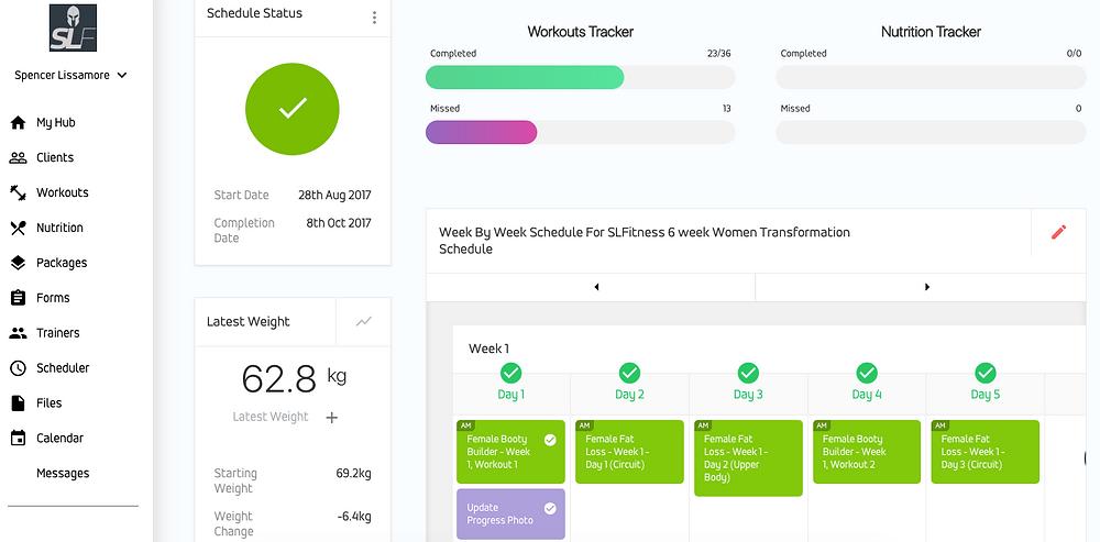 The Spencer Lissamore Fitness app