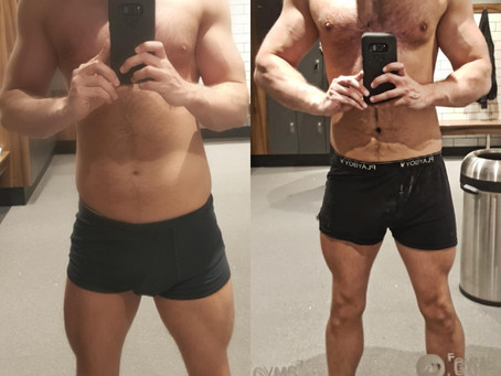 Robert Gordon has gained 1.5kg in lean muscle mass!
