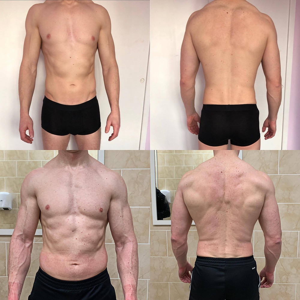 Client: David Cooke after a 4 week 'mini-cut'