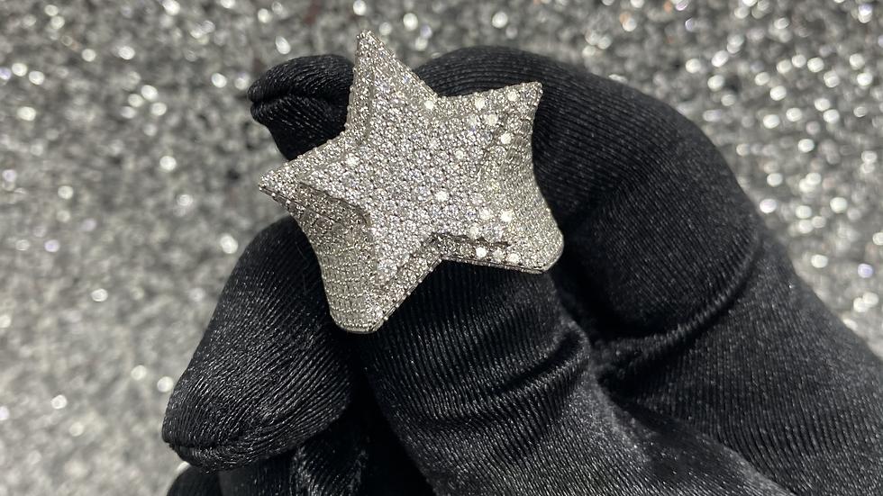 Diamond Large Star Ring