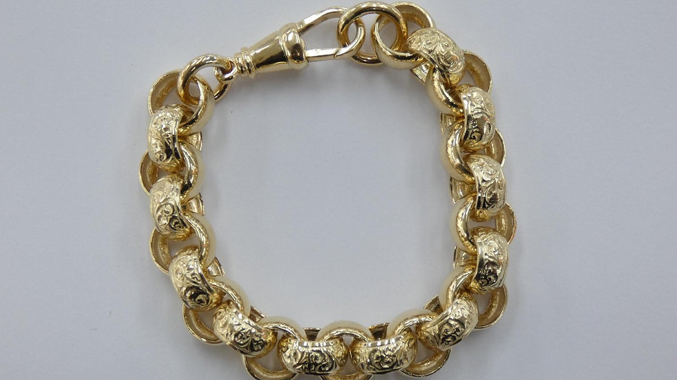 9ct 13mm Belcher Bracelet