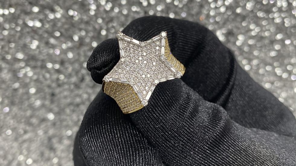 Diamond Medium Star Ring