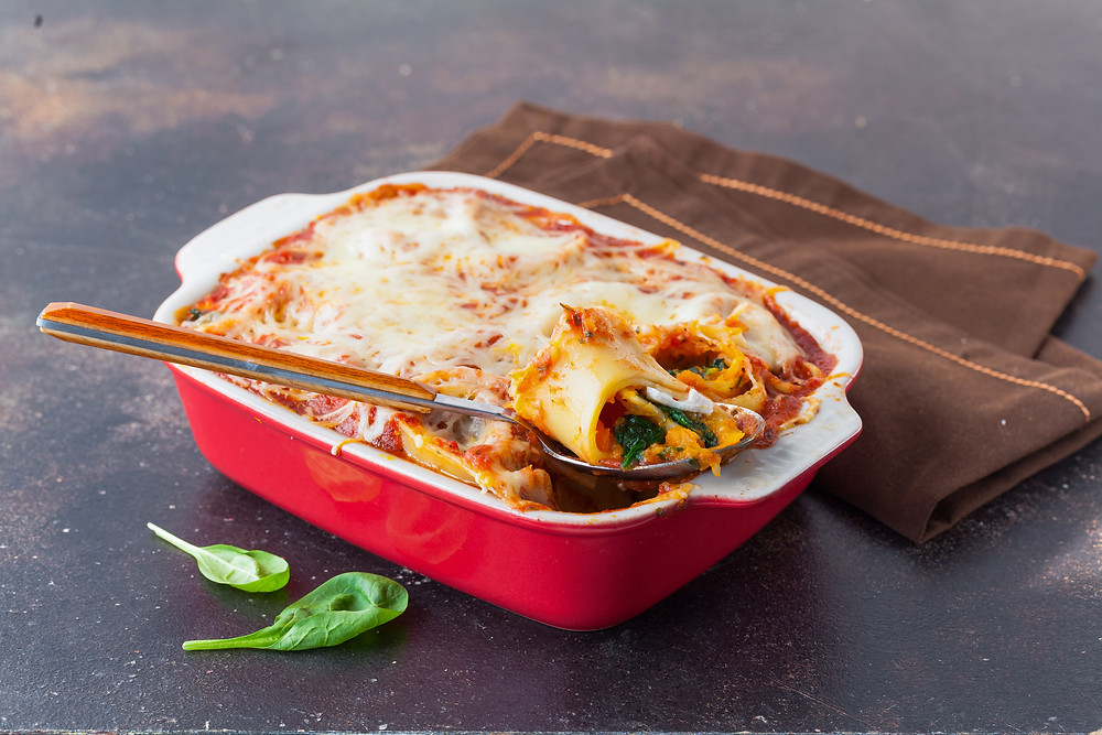 pumpkin and lentil lasagna