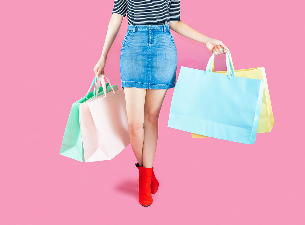 shopping in pink