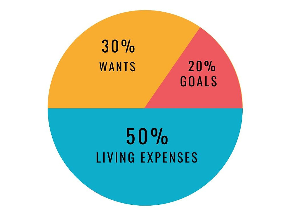types of budgets: 50/30/20