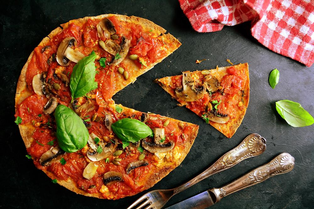 vegetarian pizzas